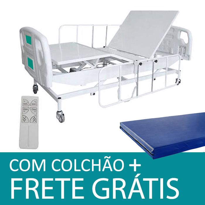 403ac7072 Cama Hospitalar Motorizada Semi Luxo 3 movimentos com Elevação do Leito –  3110